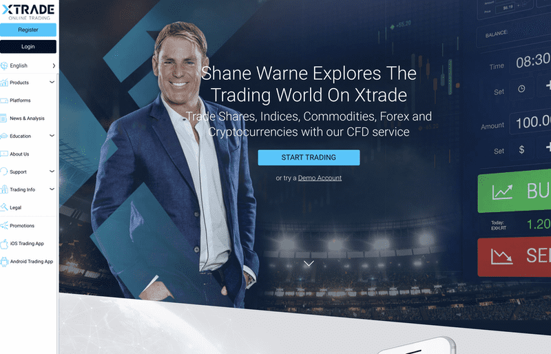 XTrade Review - Homepage