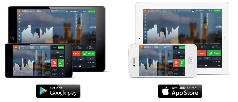 IQOption App for Android and iOS