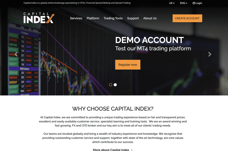 Capital Index Review - Homepage