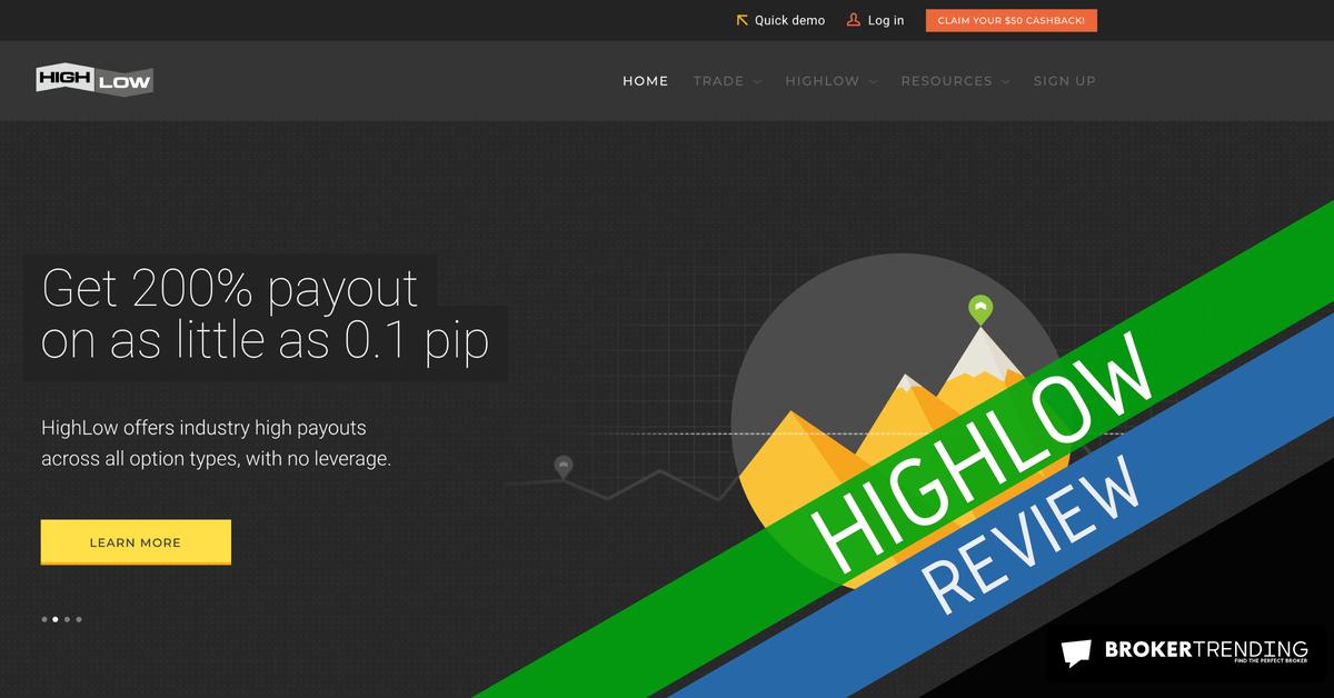 Homepage of High Low (screenshot)